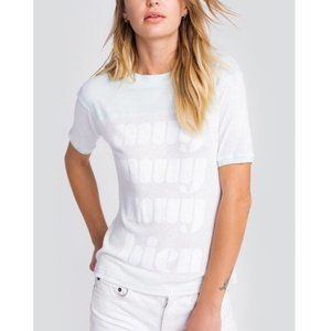 Wildfox Blue White MUY BIEN Short Sleeve Top Med